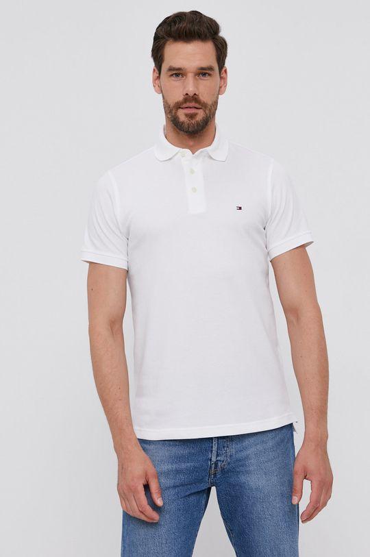 bílá Tommy Hilfiger - Polo tričko Pánský
