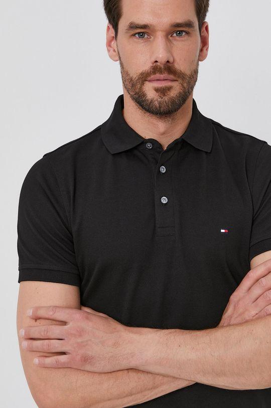 černá Tommy Hilfiger - Polo tričko Pánský