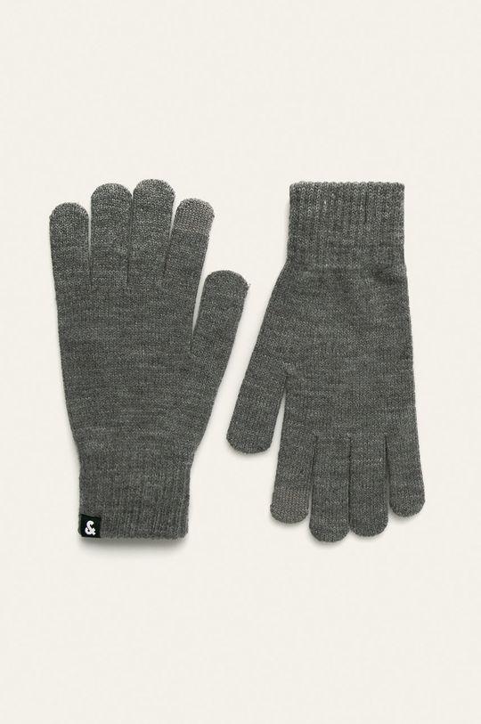 szary Jack & Jones - Rękawiczki Męski