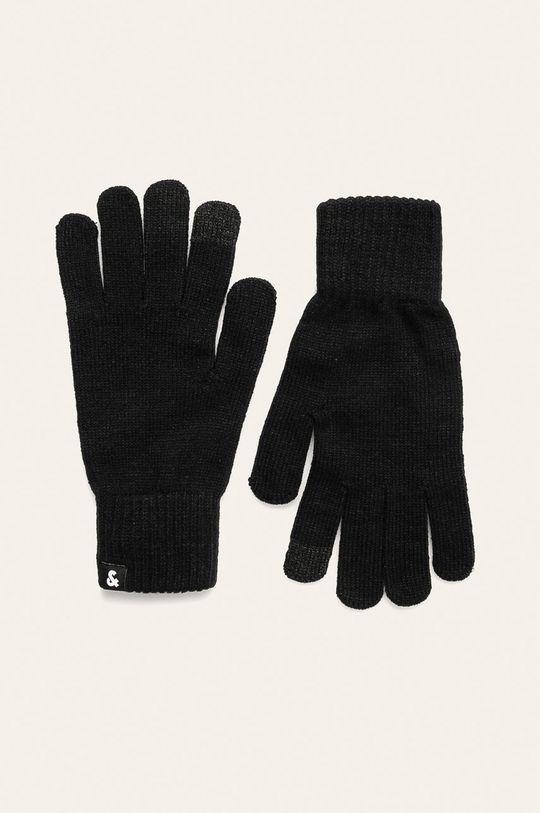 czarny Jack & Jones - Rękawiczki Męski