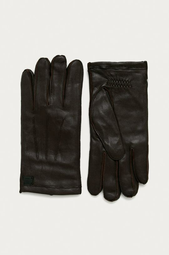 hnědá Strellson - Kožené rukavice Pánský
