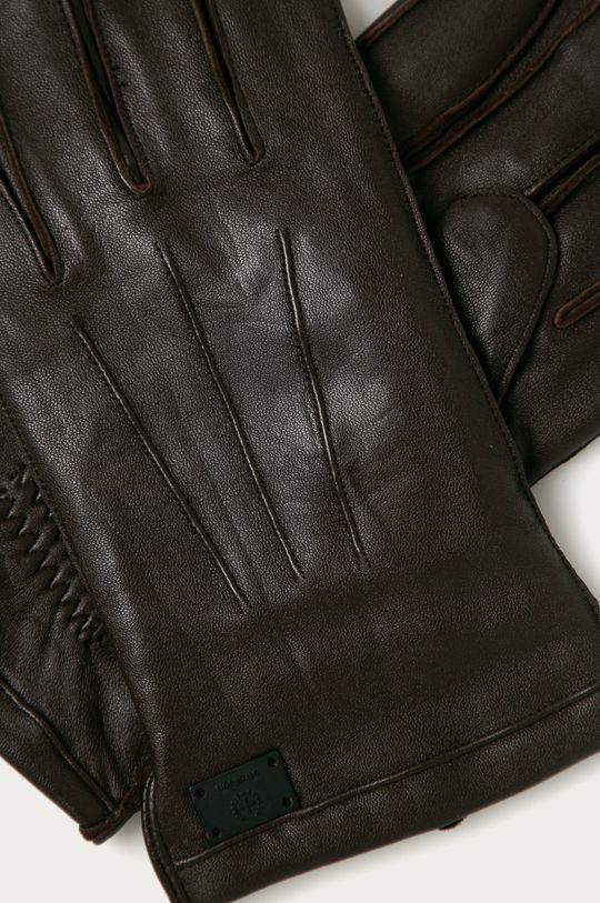 Strellson - Kožené rukavice hnědá