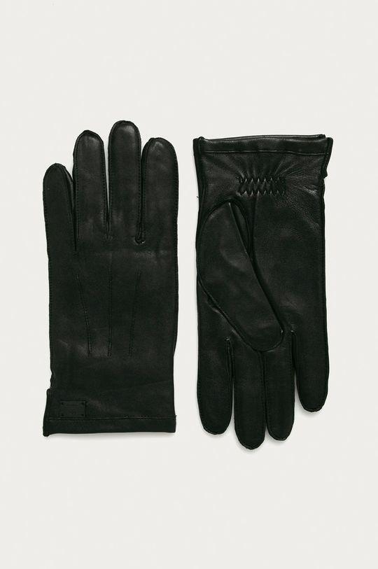 černá Strellson - Kožené rukavice Pánský