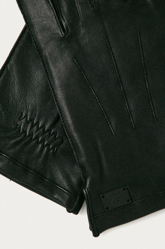 Strellson - Kožené rukavice černá