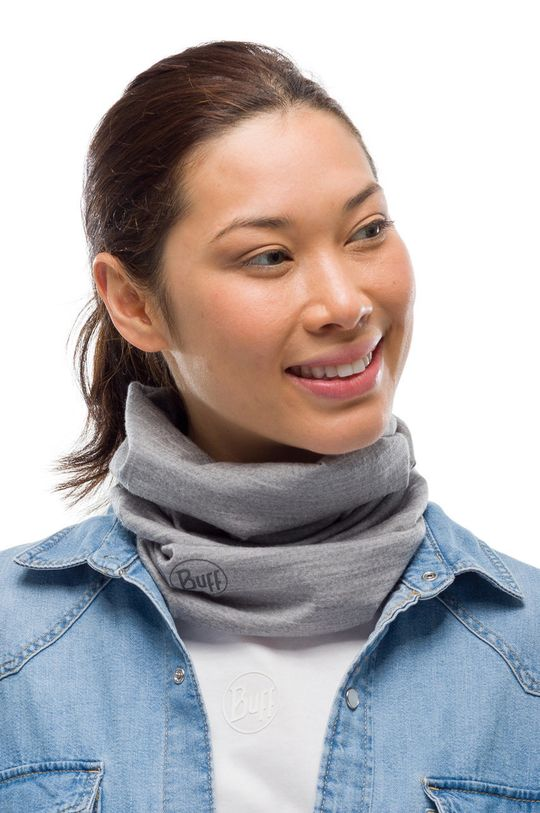 Buff - Komin Solid jasny szary