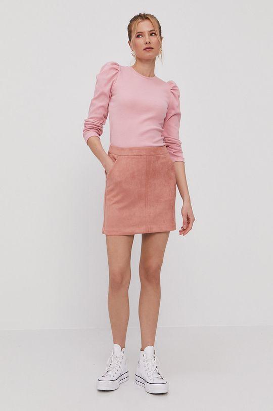 Vero Moda - Sukňa ružovo-červená