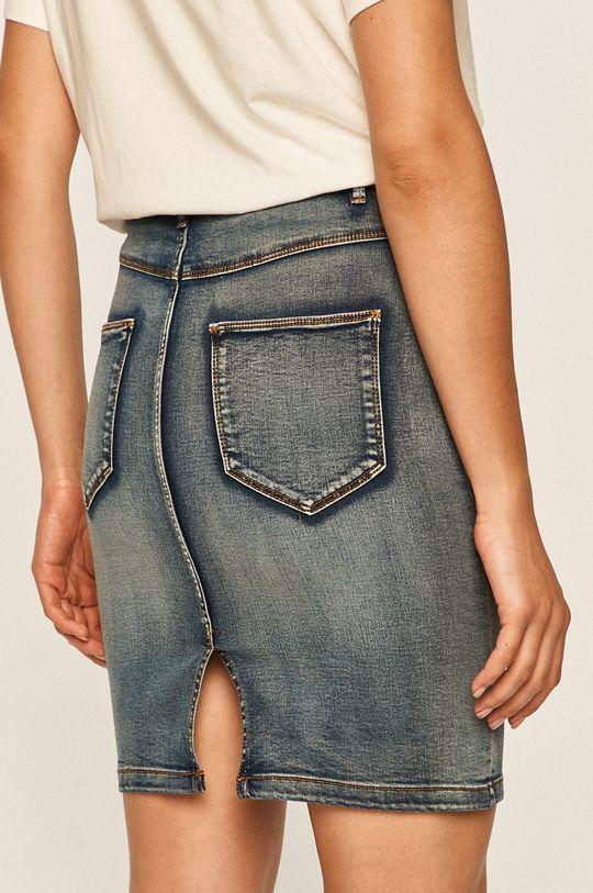 Vila - Spódnica jeansowa 72 % Bawełna, 2 % Elastan, 17 % Poliester, 9 % Wiskoza