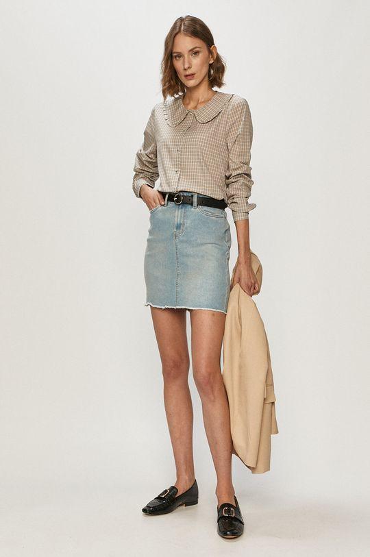 Vero Moda - Džínová sukně světle modrá