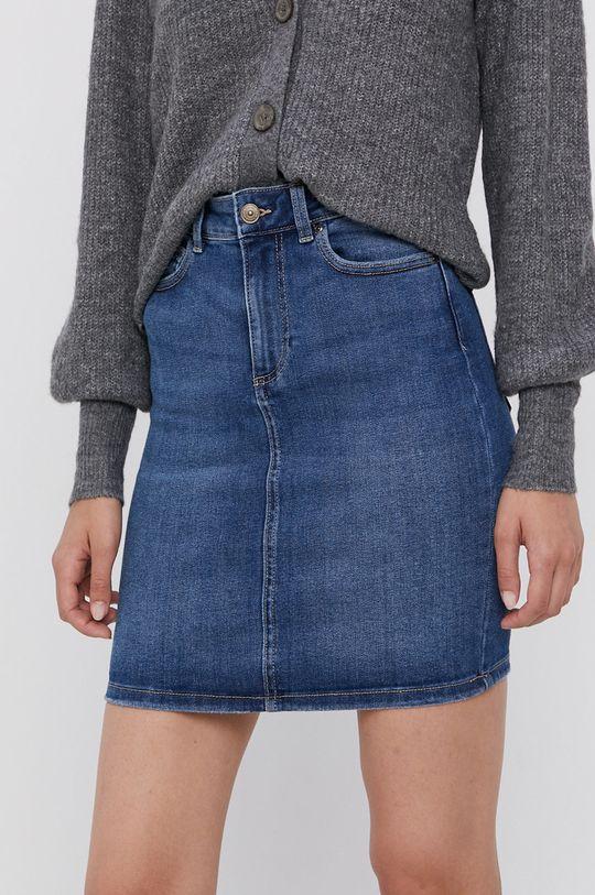 niebieski Pieces - Spódnica jeansowa Damski