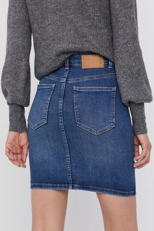 Pieces - Spódnica jeansowa 42 % Bawełna, 2 % Elastan, 5 % Poliester, 51 % Bawełna organiczna