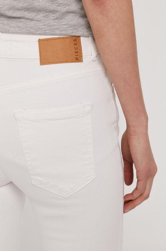 biały Pieces - Jeansy