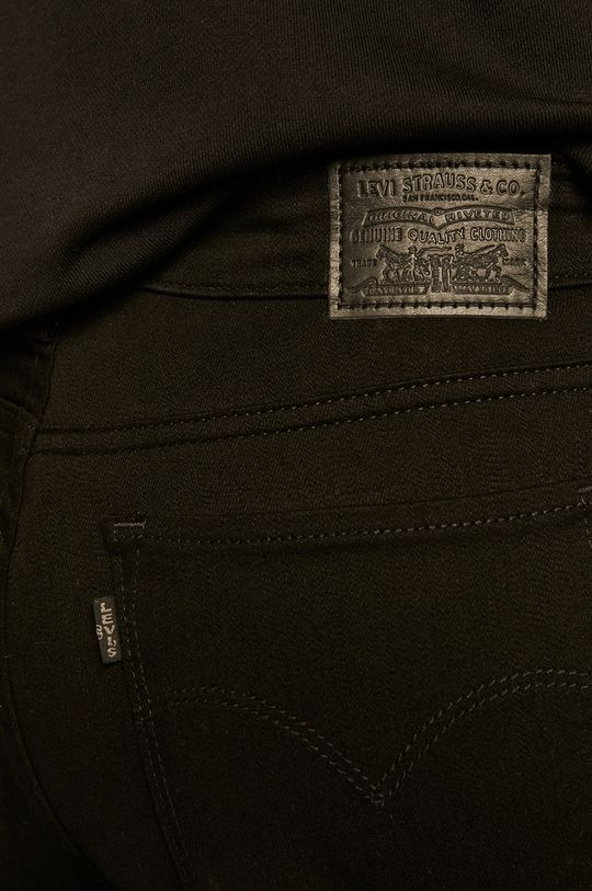černá Levi's - Džíny 712 Slim Straight Black Sheep