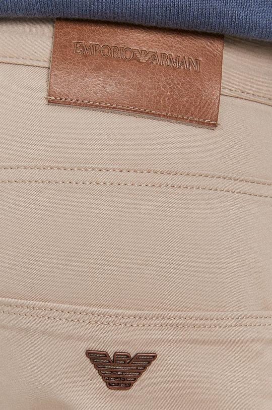 beżowy Emporio Armani - Spodnie