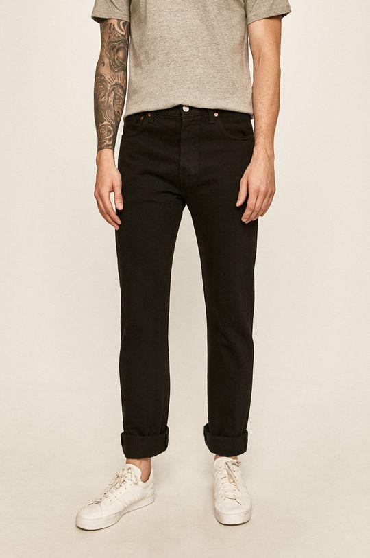 negru Levi's - Jeansi 501 Regular Fit De bărbați