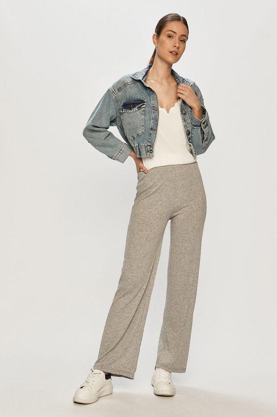 Pieces - Spodnie jasny szary