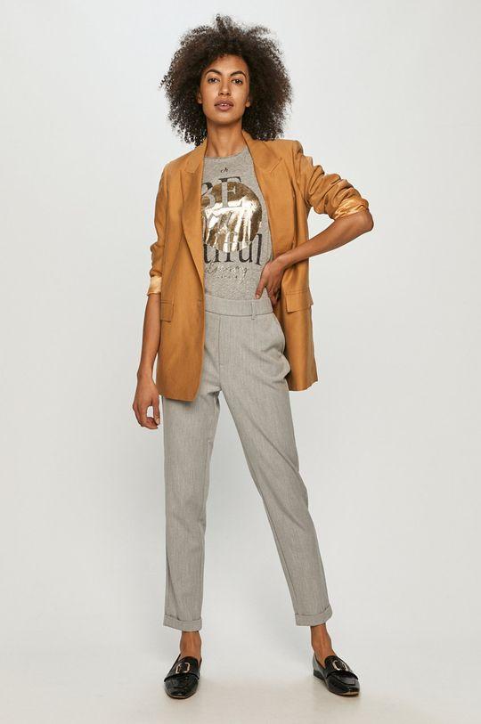 Vero Moda - Spodnie jasny szary