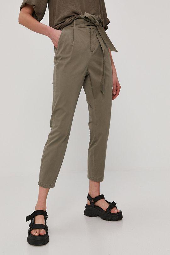tlumená zelená Vero Moda - Kalhoty Dámský