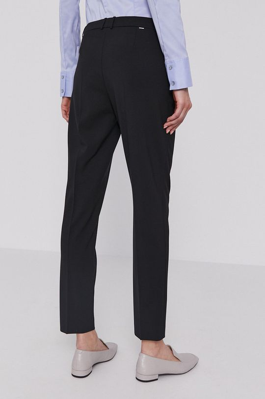 Boss - Spodnie 4 % Elastan, 96 % Wełna dziewicza
