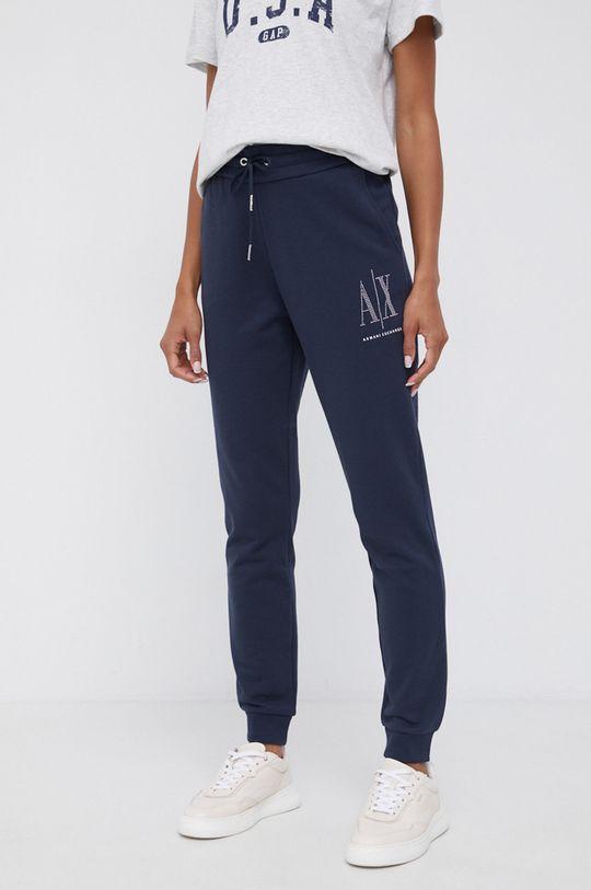 bleumarin Armani Exchange - Pantaloni De femei