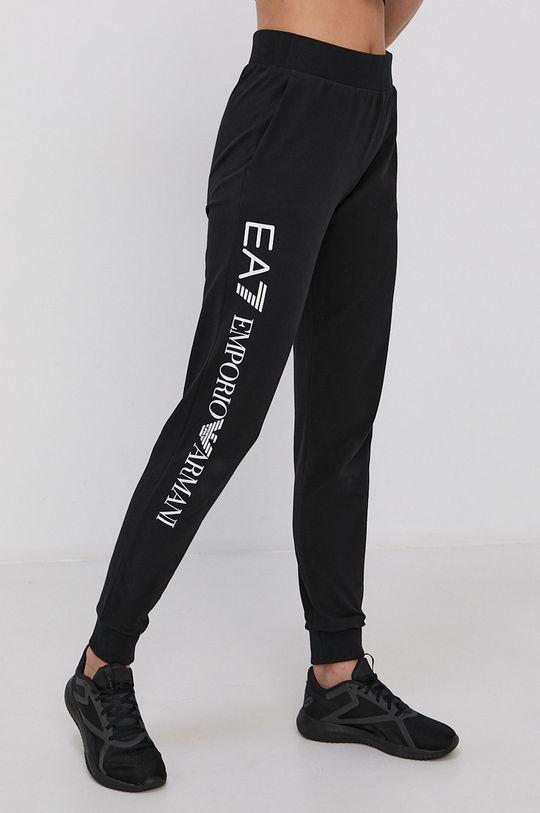czarny EA7 Emporio Armani - Spodnie Damski
