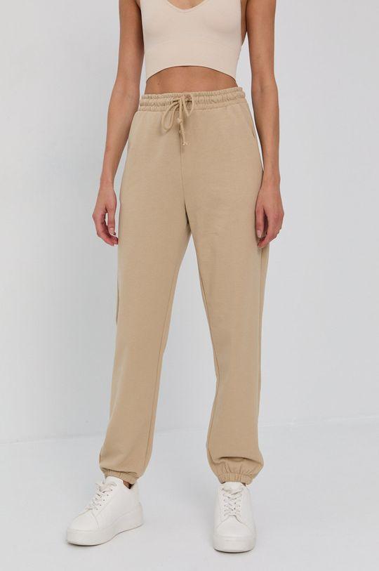 beżowy Vero Moda - Spodnie Damski