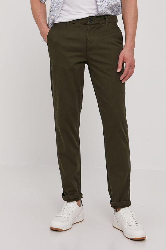 zielony Selected - Spodnie Męski
