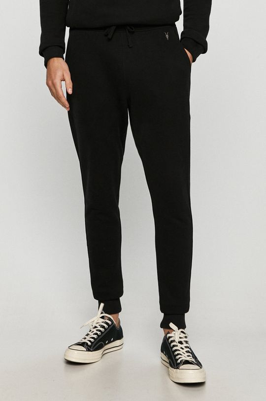 czarny AllSaints - Spodnie Raven Sweat Pant Męski