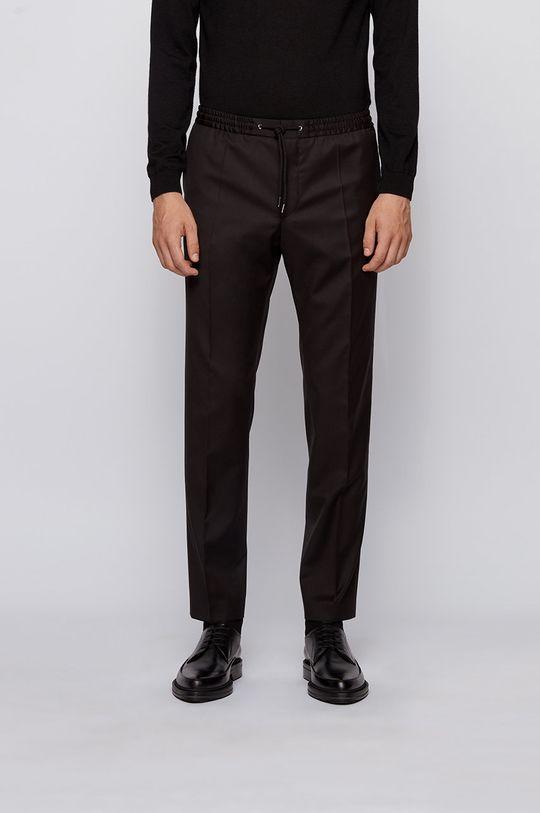 czarny Boss - Spodnie Męski