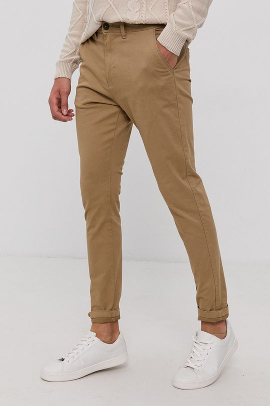 piaskowy Solid - Spodnie Męski
