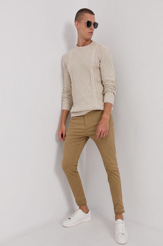 Solid - Spodnie piaskowy
