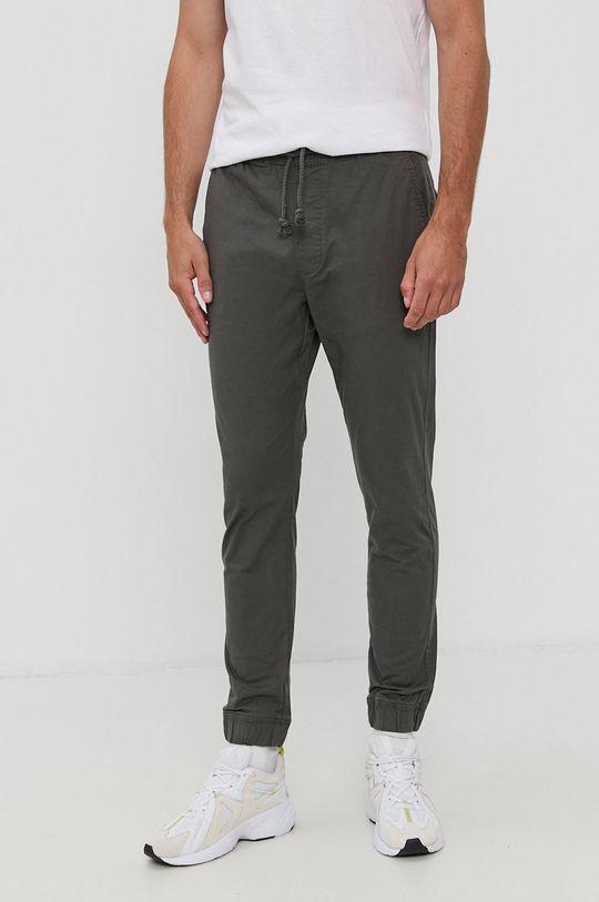 szary Solid - Spodnie Męski