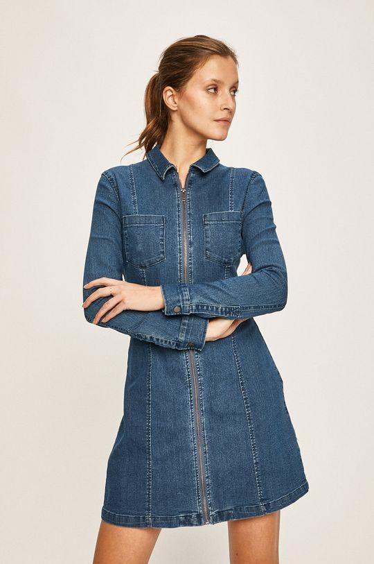 niebieski Noisy May - Sukienka jeansowa Damski