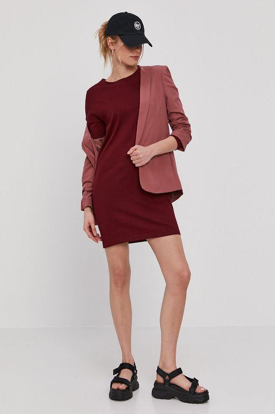 Vero Moda - Sukienka kasztanowy