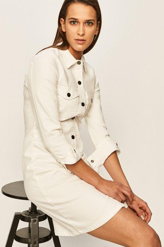 biały Jacqueline de Yong - Sukienka jeansowa Damski