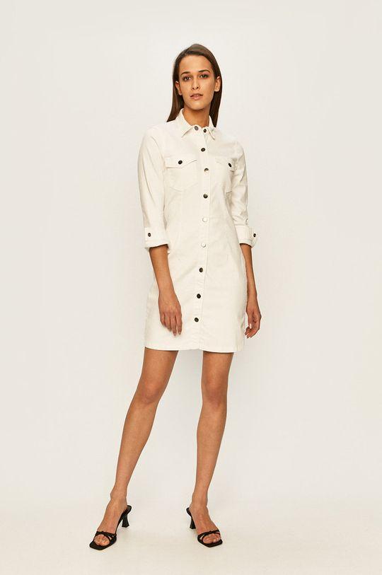 Jacqueline de Yong - Sukienka jeansowa biały
