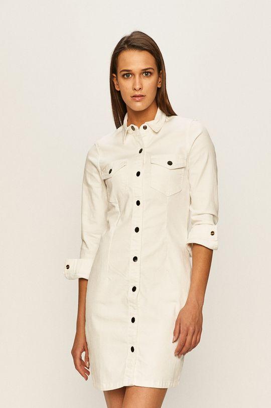 biały Jacqueline de Yong - Sukienka jeansowa