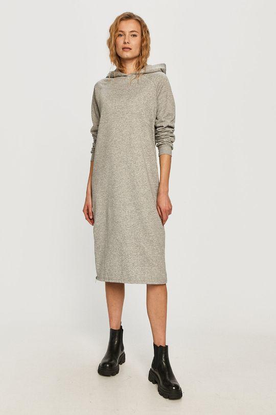 Noisy May - Šaty světle šedá