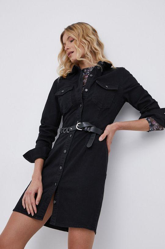 czarny Noisy May - Sukienka jeansowa Damski