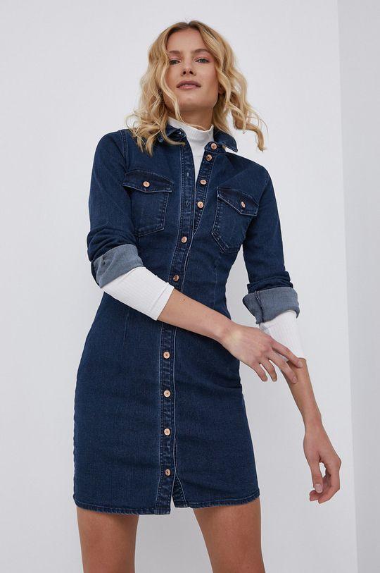 granatowy Noisy May - Sukienka jeansowa Damski