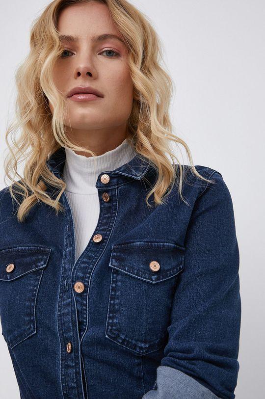 granatowy Noisy May - Sukienka jeansowa