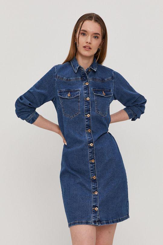 niebieski Pieces - Sukienka jeansowa Damski