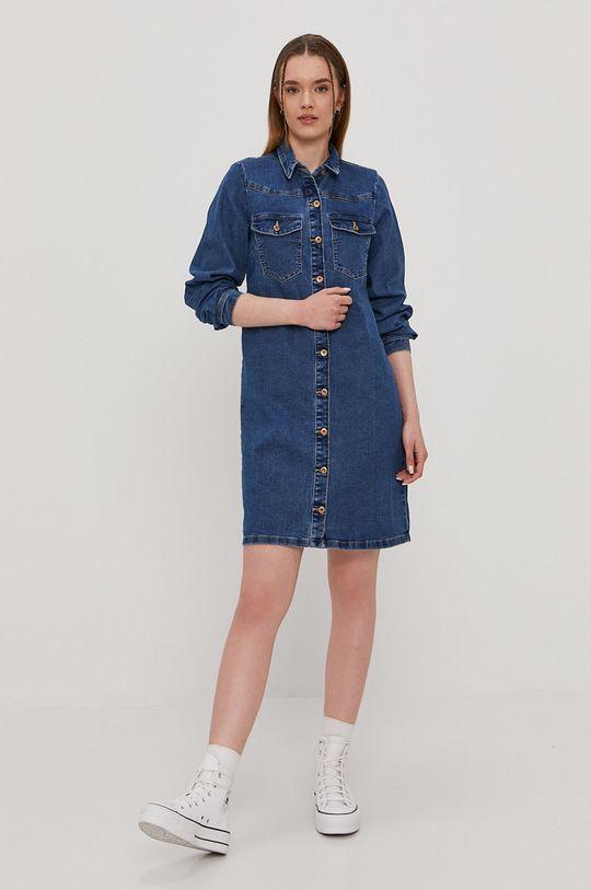 Pieces - Sukienka jeansowa niebieski