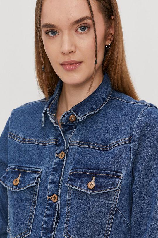 niebieski Pieces - Sukienka jeansowa