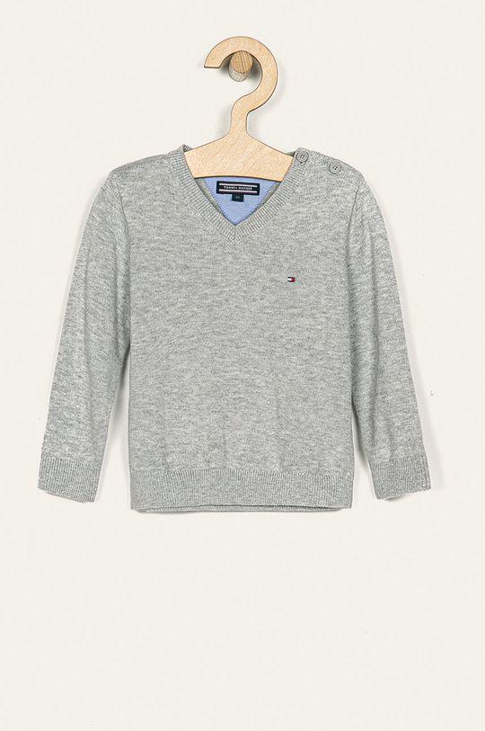 sivá Tommy Hilfiger - Detský sveter 80-176 cm Chlapčenský