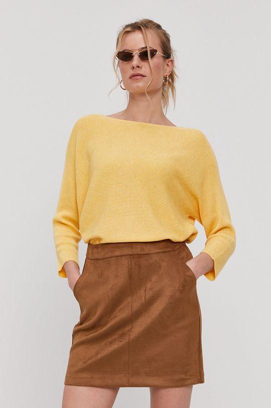 żółty Vero Moda - Sweter Damski