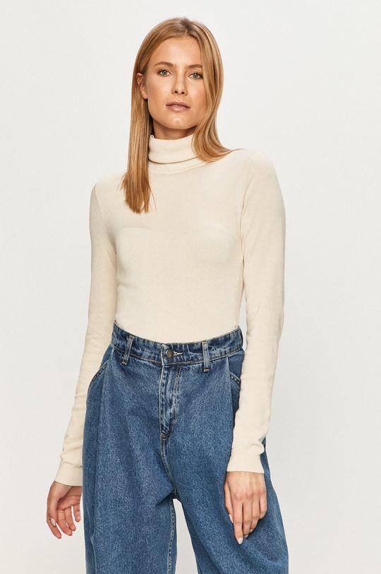 beżowy Vero Moda - Sweter Damski