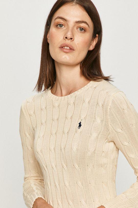kremowy Polo Ralph Lauren - Sweter Damski