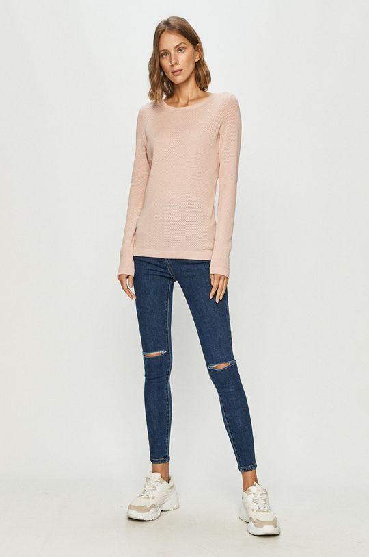 Vero Moda - Sweter pastelowy różowy
