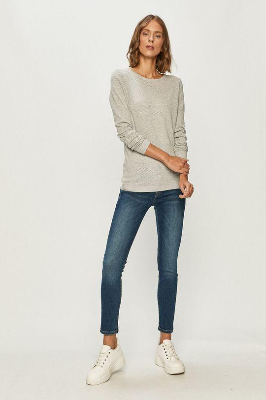 Vero Moda - Sweter jasny szary