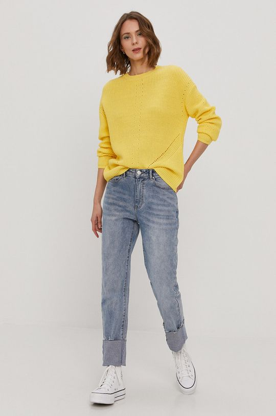 Pieces - Sweter żółty